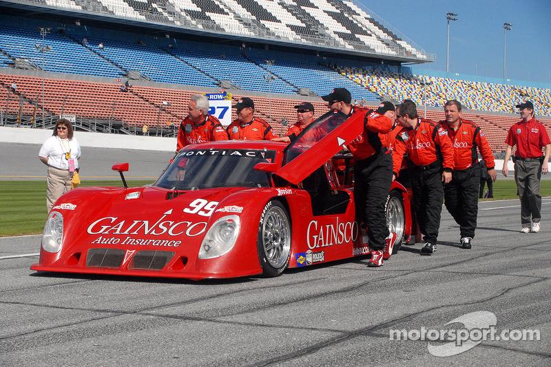 99 Gainsco Bob Stallings Racing Pontiac Riley Pushed To Pre Grid