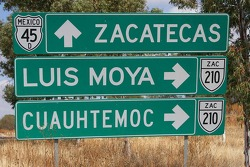 Road sign with the name of Former Co-Driver to Carlos Sainz, Luis Moya