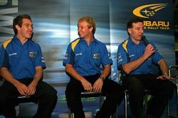 Chris Atkinson, Subaru WRT Subaru Impreza 2006 WRC and Petter Solberg, Subaru WRT Subaru Impreza 2006 WRC