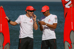 Fernando Alonso, McLaren Mercedes and Lewis Hamilton, McLaren Mercedes - Vodafone and McLaren Merced