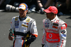 Heikki Kovalainen, Renault F1 Team with Lewis Hamilton, McLaren Mercedes