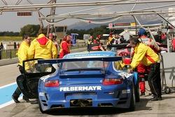 Team Felbermayr Proton pit area