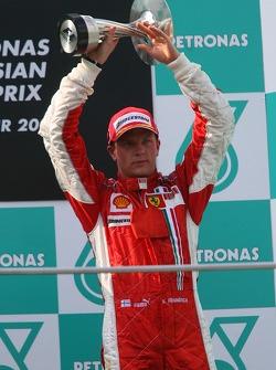 Podium: Kimi Raikkonen