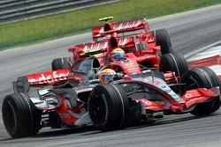 Lewis Hamilton, McLaren Mercedes, Felipe Massa, Scuderia Ferrari, Kimi Raikkonen, Scuderia Ferrari