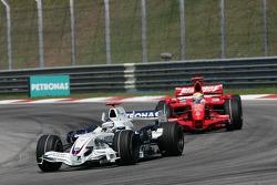 Nick Heidfeld, BMW Sauber F1 Team and Felipe Massa, Scuderia Ferrari, F2007