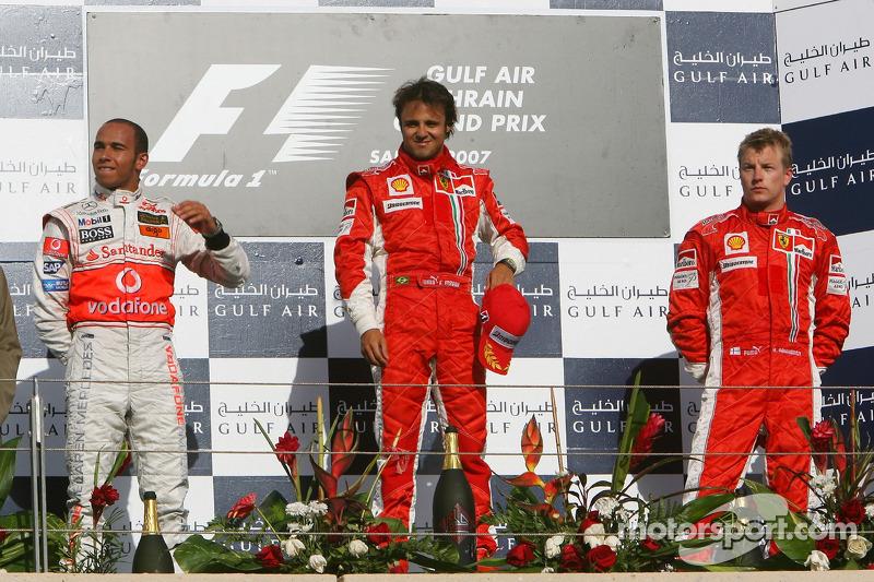 2007: Felipe Massa, Lewis Hamilton, Kimi Räikkönen