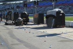 Post race pit lane