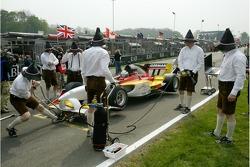 A1 Team Germany mechanics show their sense of humour