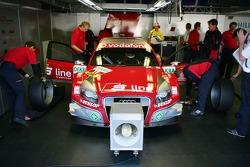 Pitbox of Mike Rockenfeller, Audi Sport Team Rosberg, Audi A4 DTM