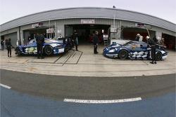 JMB Racing pit area
