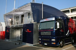 Toro Rosso Transporter and engineers room