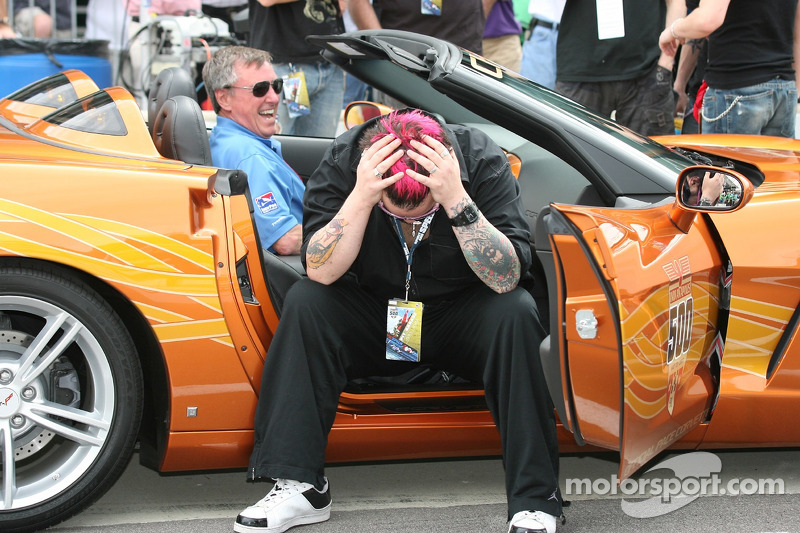 Pace car driver Johnny Rutherford and SALIVA lead singer ...