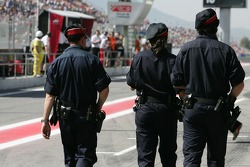 Police in the pitlane