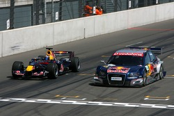 Demo with Michael Ammermuller, Red Bull Racing and Mattias Ekström, Audi Sport Team Abt Sportsline, Audi A4 DTM