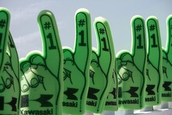 Kawasaki generously provides gloves on a cool weekend at Infineon Raceway