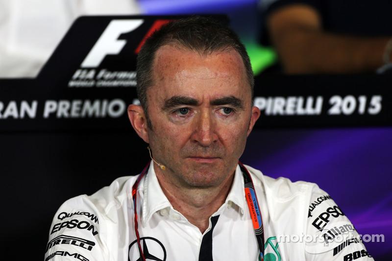Paddy Lowe, Mercedes AMG F1, Teamchef, in der FIA-Pressekonferenz