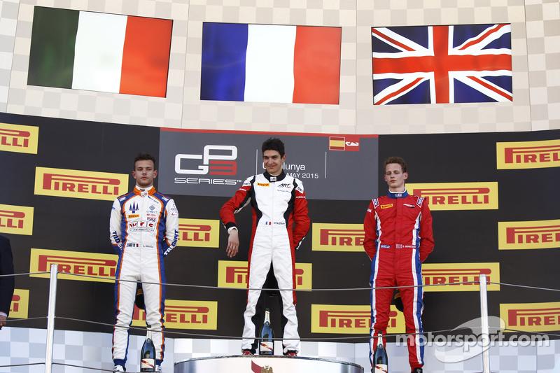 Esteban Ocon, ART Grand Prix, Luca Ghiotto, Trident, und Emil Bernstorff, Arden International