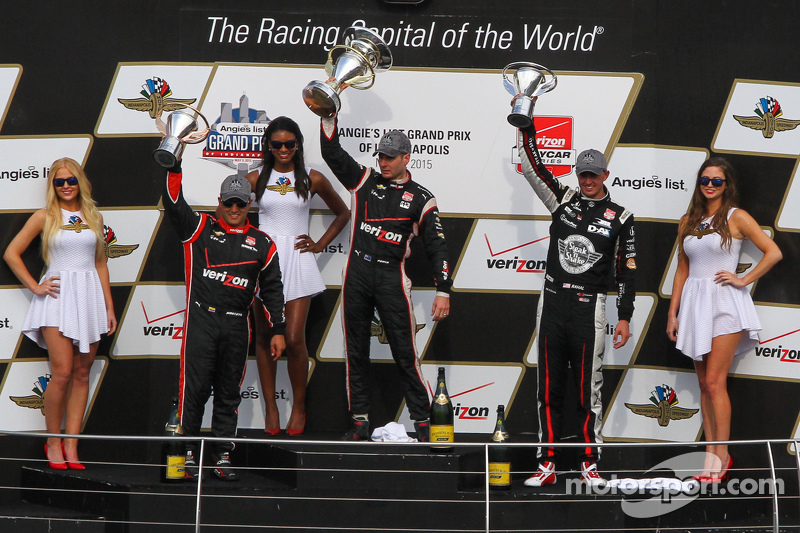 Podium: 1. Will Power, Team Penske, Chevrolet; 2. Graham Rahal, Rahal Letterman Lanigan Racing, und
