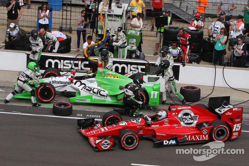 Sebastien Bourdais, KVSH Racing, und Graham Rahal, Rahal Letterman Lanigan Racing