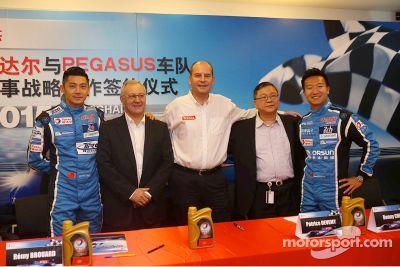 Anuncio de Pegasus Racing y Total