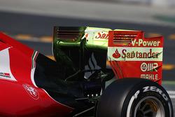 Raffaele Marciello, Ferrari SF15-T avec de la peinture flow-vis sur l'aileron arrière