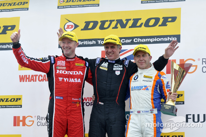 1. Jason Plato, 2. Rob Collard, 3. Gordon Shedden