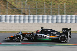 Esteban Ocon, Sahara Force India F1 VJM08 testrijder met sensors