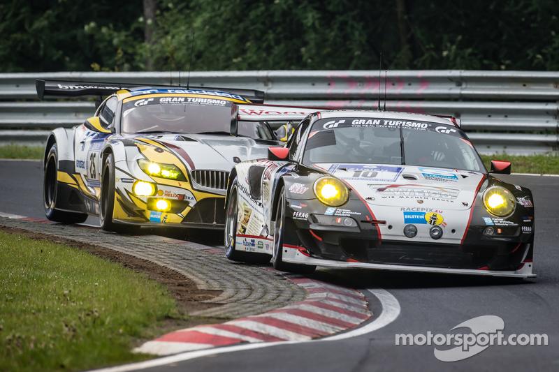 #10 Team Manthey, Porsche 911 GT3 RSR: Georg Weiss, Oliver Kainz, Jochen Krumbach, Richard Lietz sow