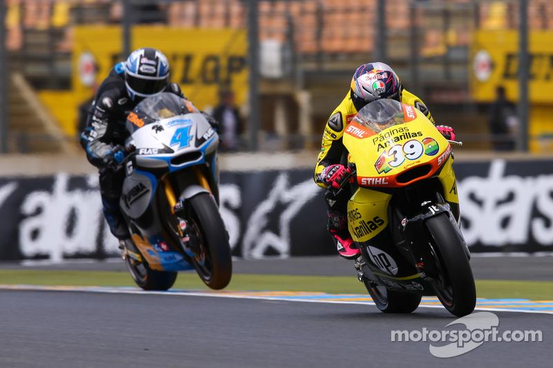 Luis Salom, Pagnias Amarillas HP 40 y Randy Krummenacher, JiR Moto2