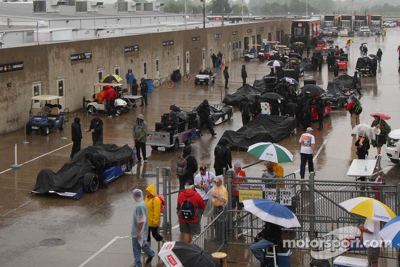 Regen am Indianapolis Motor Speedway