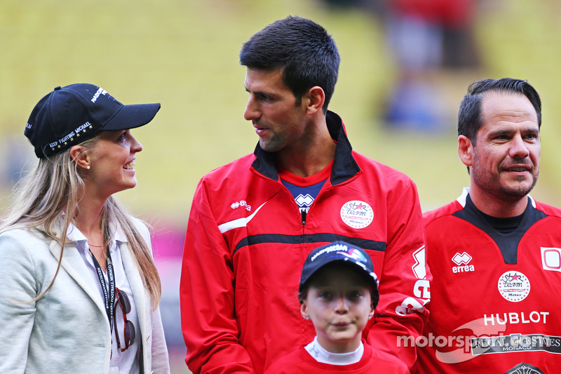 Novak Djokovic Tennis Player at the charity football match