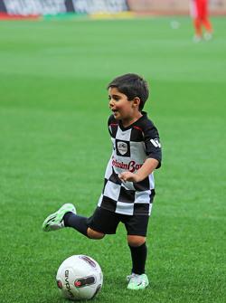 Felipinho Massa at the charity football match