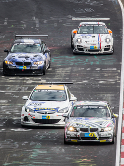 #184 Sorg Rennsport BMW 325i: Ronja Assmann, Daniel Engl, Felix Günther, Niklas Meisenzahl, #250 Team Schirmer Opel Astra OPC Cup: Volker Strycek, Markus Oestreich, Moritz Oestreich, Robin Strycek