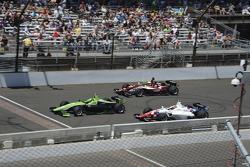 Spencer Pigot, Juncos Racing; Ethan Ringel, Schmidt Peterson Motorsports, und Jack Harvey, Schmidt P