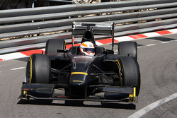 "Martin Brundle, Sky Sports Commentator demonstrates the Pirelli 18"" tyre with a GP2 car"