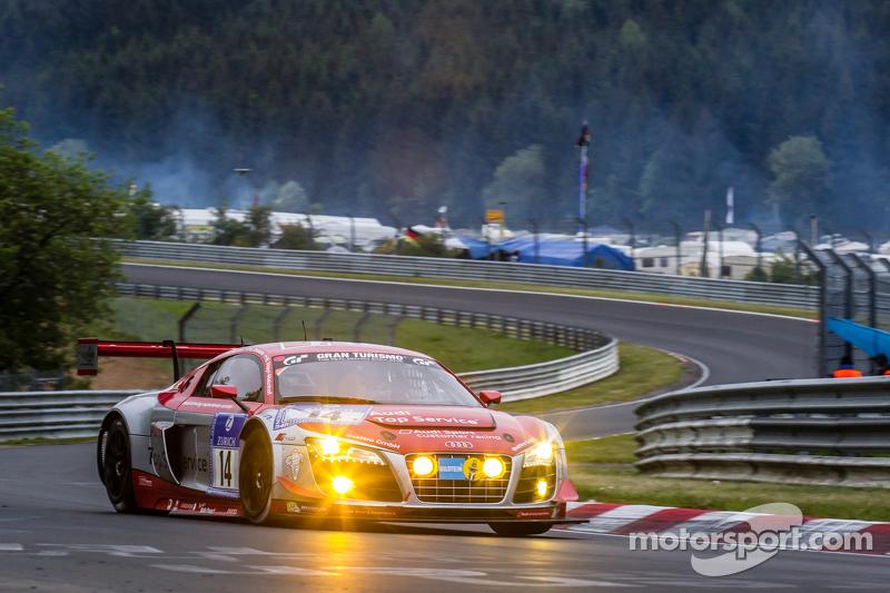 #14 Audi Race Experience Audi R8 LMS ultra: Niki Mayr-Melnhof, Rod Salmon, Micke Ohlsson, Ronnie Sau