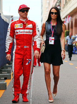 Kimi Raikkonen, Ferrari with his girlfriend Minttu Virtanen,