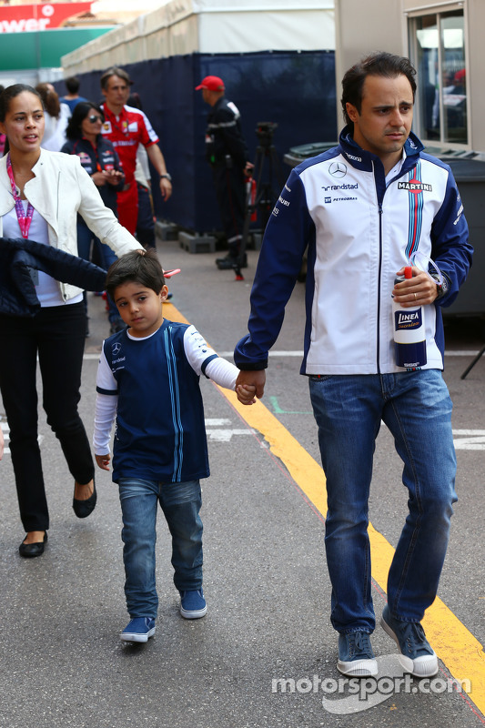 Felipe Massa, Williams, mit seinem Sohn Felipinho Massa