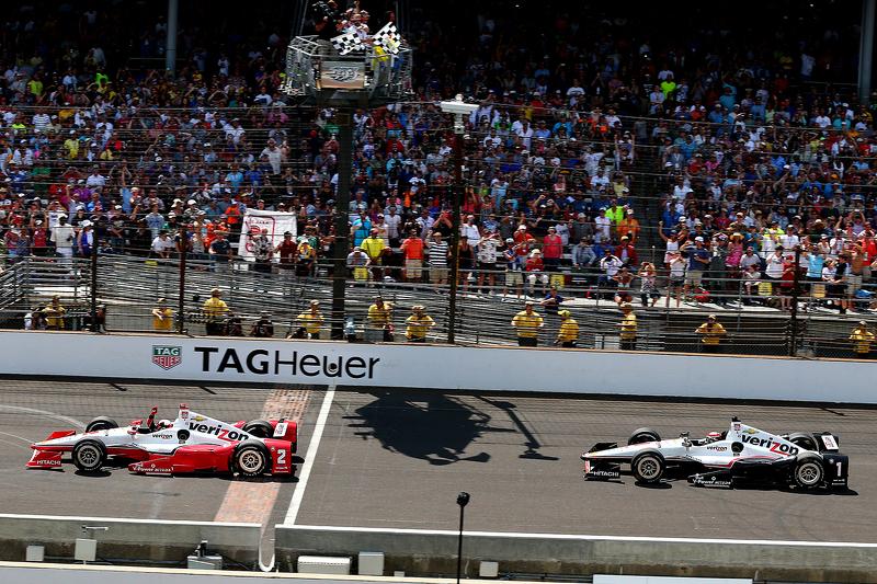 Juan Pablo Montoya, Team Penske, Chevrolet, und Will Power, Team Penske, Chevrolet