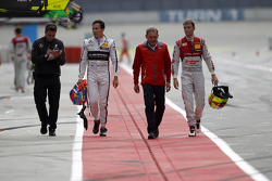 Robert Wickens, HWA AG Mercedes-AMG C63 DTM et Jamie Green, Audi Sport Team Rosberg Audi RS 5 DTM