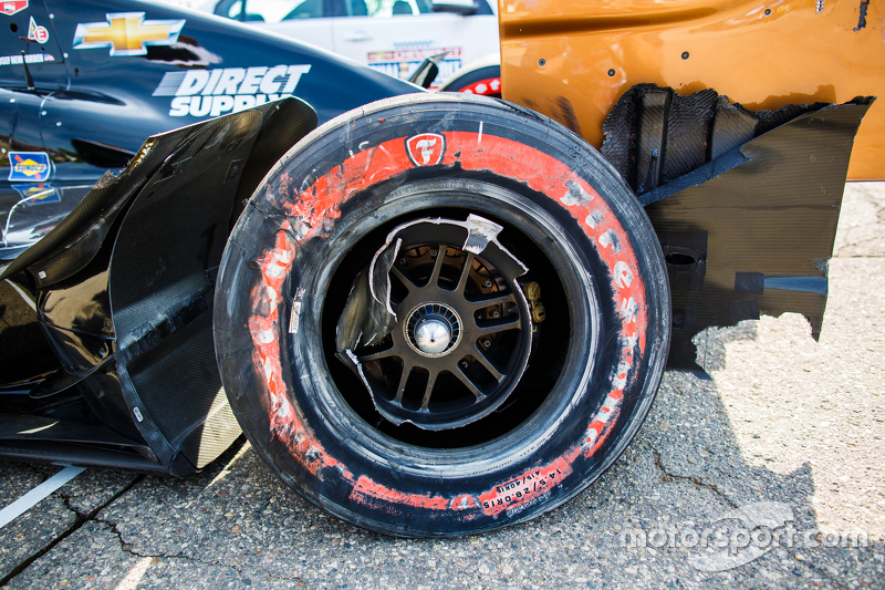 Das Unfallauto von Josef Newgarden, CFH Racing, Chevrolet