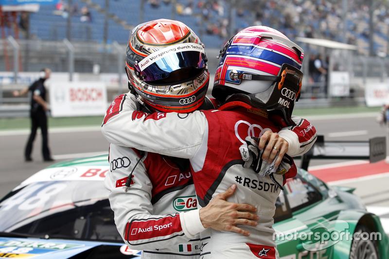 Edoardo Mortara, Audi Sport Team Abt, Audi RS 5 DTM, und Miguel Molina, Audi Sport Team Abt, Audi RS