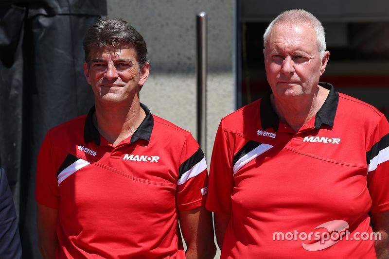 Graeme Lowdon, Manor F1 Team Chief Executive Officer and John Booth, Team Principal, Manor F1 Team