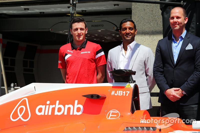 Manor F1 Team reveal airbnb as sponsors