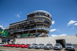 The control tower and safety vehicles
