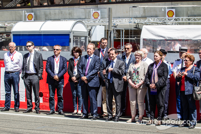 Upacara untuk memperingati tragedi 24 Hours of Le Mans 1955: Presiden ACO, Pierre Fillon