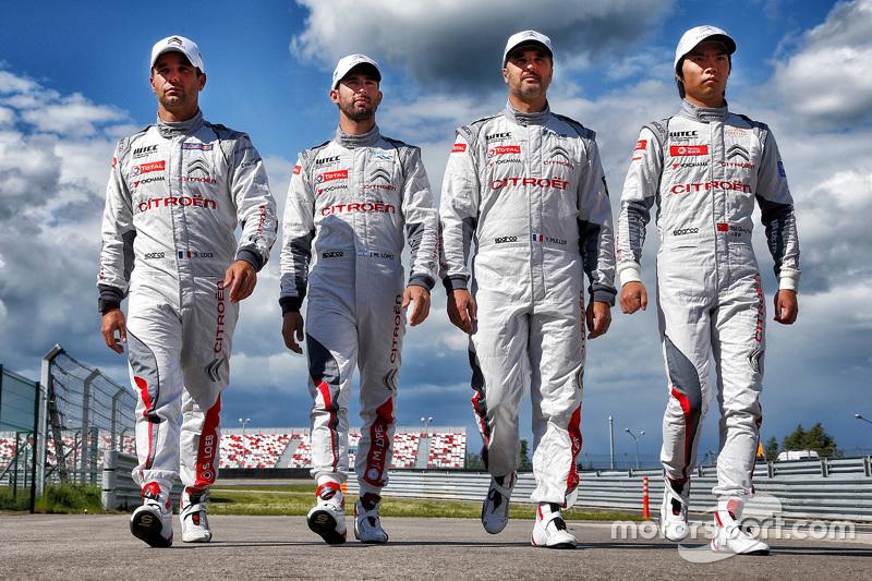 Sébastien Loeb, Jose Maria Lopez, Yvan Muller, Qing-Hua Ma, Citroën C-Elysée WTCC, Citroën World Touring Car Team
