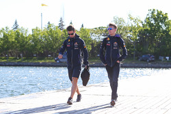 Daniil Kvyat, Red Bull Racing, with Pyry Salmela, Personal Trainer
