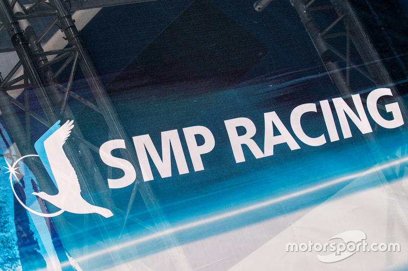SMP Racing transporter and logo / signage