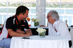 Ted Kravitz, Sky-Reporter, mit Bernie Ecclestone